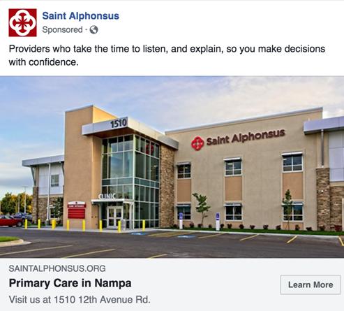 Marketing RFP Boise, Idaho (ID), Saint Alphonsus